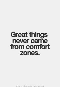 from comfort zones