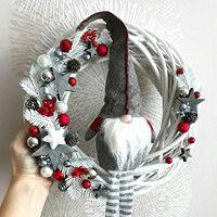 Zboží prodejce DekoLuLu / Zboží | Fler.cz Christmas Deco, Christmas Wreaths, Diy Wreath, Xmas Decorations, Christmas Inspiration, Tis The Season, Diy And Crafts, Bows, Holiday Decor