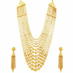 #gold #strings #necklace #set #bridal #trousseau #design #Mehrasons #Jewellers