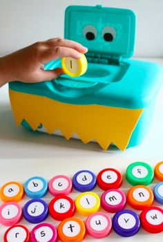 DIY alphabet monster game