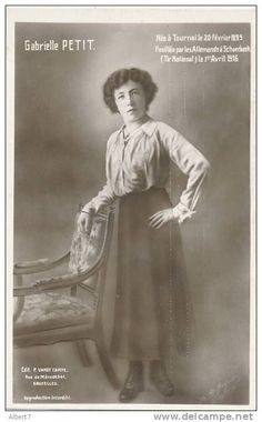 THIS DAY IN WWI: APR 1, 1916 - Execution of Belgian Resistance Leader Gabrielle Petit