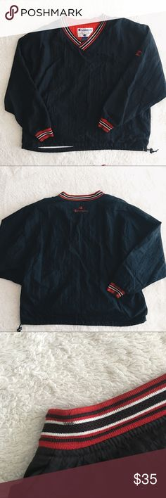 ❗LAST CHANCE❗Vintage Champion Pullover Windbreaker Popular Vintage Champion Pullover Windbreaker Wear and stain on the neckline and wrists (as pictured) It is from the 90s, so there's wear, but it's in overall good condition  Champion spell out in the back  Nylon/polyester/cotton  *Offers are welcomed* Champion Jackets & Coats Windbreakers