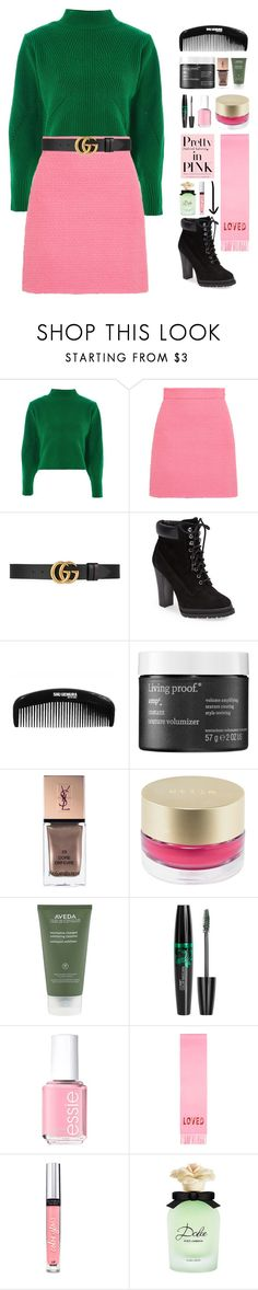 """""""A-Z random playlist rtd"""" by altrisa-mulla ❤ liked on Polyvore featuring Topshop, Gucci, BCBGeneration, shu uemura, Living Proof, Yves Saint Laurent, Stila, Aveda, Essie and Victoria's Secret"""