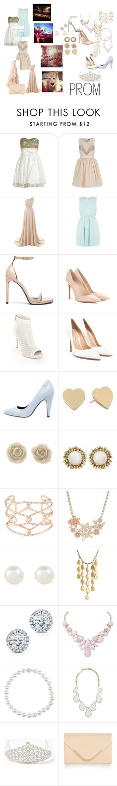 """Prom"" by geecat on Polyvore featuring Off-White, River Island, Madam Rage, Yves Saint Laurent, Gianvito Rossi, BCBGMAXAZRIA, even&odd, Kate Spade, Kendra Scott and Alexis Bittar"
