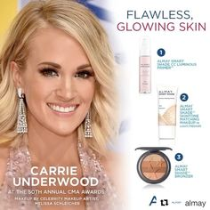 #Repost @almay ・・・ We still can't get over how gorgeous @CarrieUnderwood's makeup was on the red carpet last night at the CMA Awards! Recreate her natural glam look from celebrity makeup artist @MelissaSchleicher with some of our favorite products! That smoky eye and neutral lip pairing is perfect for a night out! #CMAawards50