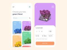 Mobile app - Iceland moss page ui design Mobile app - Iceland moss Ios App Design, Mobile App Design, Interaktives Design, Android App Design, Android Ui, Design Food, Mobile App Ui, Interface Design, Layout Design