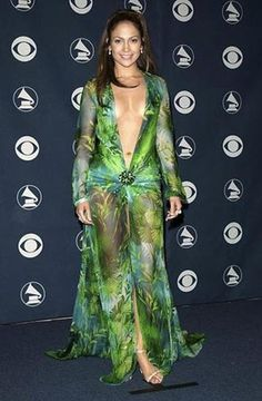 Jennifer Lopez wore this unforgettable green Versace gown to the 2000 Grammy Awards. Her wardrobe choice is still one of the most talked about in awards show history.