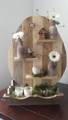 ▷ ideas for wooden Easter decorations in the house or garden - Craft ideas from wooden Easter decoration Informations About ▷ Ideen für Osterdeko aus Holz - Easter Crafts, Kids Crafts, Wood Crafts, Diy And Crafts, Easter Ideas, Easter Decor, Christmas Crafts, Deco Floral, Wooden Decor