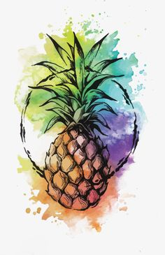 I remembered there's a bunch of inktober drawings i haven't posted. Some… - diy tattoo project Pineapple Drawing, Pineapple Art, Pineapple Watercolor, Pineapple Cocktail, Pinapple Painting, Water Color Pineapple, Pineapple Design, Cute Wallpaper Backgrounds, Nature Tattoos