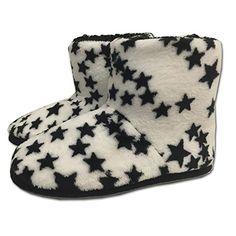 JEMIDI Damen Hausschuhe Hüttenstiefel Sterne gefüttert Schuhe Stiefel Hausschuh Haus (38, Weiß mit Sternen Stiefel) - http://on-line-kaufen.de/jemidi/38-eu-jemidi-damen-hausschuhe-huettenstiefel-2