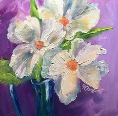 "Daily Paintworks - ""White on White, 6 x 6, Oil, Still Life"" - Original Fine Art for Sale - © Donna Pierce-Clark"
