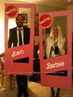 Coolest Homemade Barbie and Ken Halloween Couple Costume ... This website is the Pinterest of costumes