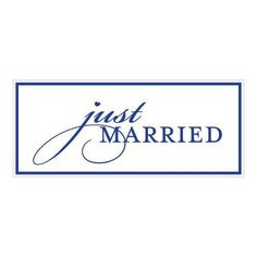 Just Married License Plate Berry (Pack of 1)