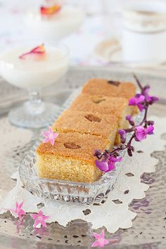 Cardamom Semolina Cake with Rosewater Syrup For the recipe: http://www.melangery.com/2013/09/cardamom-semolina-cake-with-rosewater.html by Yelena Strokin, via Flickr