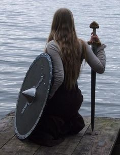 I know this is a line for the show Vikings, but I love it and with our club being largely made up of women at this time, its fitting. Les Runes, Armadura Medieval, Viking Warrior, Warrior Women, Viking Woman, Viking Life, Viking Shield, Shield Maiden, Brave Women