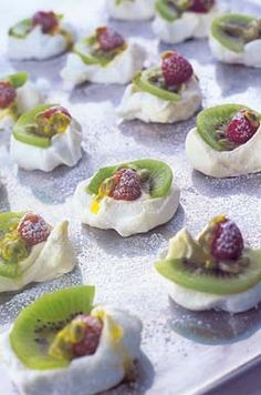 Pavlova bites. Why didn't I think of this?
