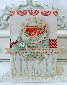 'Thank You' / so cute...great recipe for invitation to a tea, bridal shower, tag for a gift or use part of it to add to a recipe book