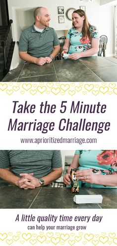 Spend at least five minutes of intentional time connecting with your spouse each day. Marriage Challenge, Marriage Goals, Marriage Relationship, Good Marriage, Happy Marriage, Marriage Advice, Marriage Humor, Best Places To Travel, Dating Tips