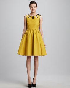 rainey embroidered dress - Neiman Marcus