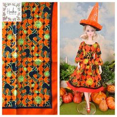 Hankie Chic | One-of-a-kind fashion-doll dresses, hand sewn from vintage hankies Lining Fabric, Silk Fabric, Star Patterns, Sewing Patterns, Halloween Party, Barbie Halloween, Vintage Handkerchiefs, Vintage Barbie, Fashion Dolls