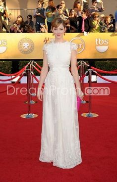 Judy Greer Fabulous Column Sheath Empire Short Sleeves Evening Dresses At Screen Actors Guild Awards