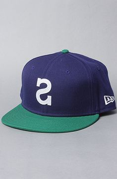 $30 The Big S New Era Hat in Blue & Kelly by Society Original Products -- Use repcode SMARTCANUCKS for 20% OFF your entire purchase at the checkout on Karmaloop.com -- http://lovekarmaloop.com