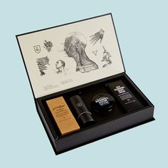 Based upon an old apothecary set, the T&D 'stash box' is a one stop shop of shaving and skincare gold that makes an ideal grooming kit or gift set for a modern man.