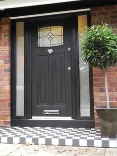 A stunning Black Newark. Rockdoor manufacture the most secure Front doors, Back Doors and Barn Doors in the UK - Design your dream door today at www.rockdoor.com