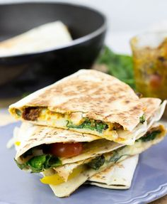 Easy Veggie Quesadillas with a Melted Mozzarella and Cheddar Combo #veggie #quesadilla | hurrythefoodup.com