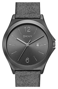 DKNY 'Parsons' Leather Strap Watch, 34mm available at #Nordstrom