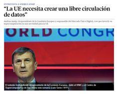 """""""La UE necesita crear una libre circulación de datos"""" / @LaVanguardia   #readyfordata #readytoinnovate #readyforEUrope"""