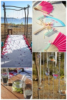 Beach wedding altar (By Weddings Costa Rica)