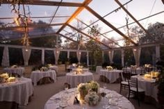 clear outdoor wedding tent!