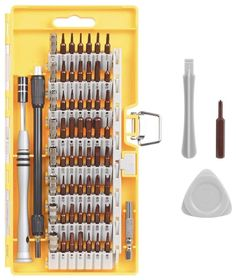 c1b27173e38 From Kootek 63 In 1 Steel Precision Screwdriver Set With 57 Magnetic Driver  Kits Cordless Screwdriver Kit Triangle Paddle Opener Electronics Repair Tool  ...