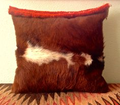 Hair on Cowhide Decorative Pillow by GretelStoudt on Etsy