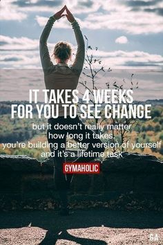 It Takes 4 Weeks For You To See Change #fitness #motivation #workout #QuittingDrinking #fitnessmotivation