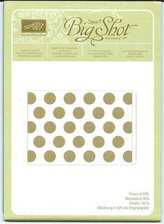 Stampin' Up! Large Polka Dot Textured Impressions Embossing Folder Free Ship NEW #StampinUp