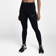 Nike women's tights epic lux running long capri 890319 black XS S M L Nike Leggings, Running Leggings, Nike Running, Athletic Pants, Golf Outfit, Black Tights, Ladies Golf, Hoodie Jacket, Sportswear