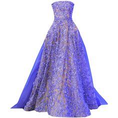 edited by elle-cxix(elie saab) Purple Evening Gowns, Purple Gowns, Purple Dress, Evening Dresses, Long Dresses, Dress Long, Elie Saab Dresses, Ball Gown Dresses, Types Of Dresses