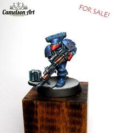 Warhammer 40k   Space Marines   Space Marine by Camelson #warhammer #40k #40000 #wh40k #wh40000 #warhammer40k #gw #gamesworkshop #wellofeternity #miniatures #wargaming #hobby #tabletop