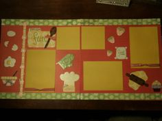 2 Premade Scrapbook Pages 12x12 Recipe for Fun by LisasCraftshack
