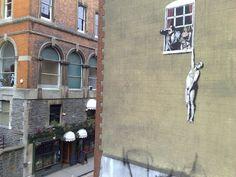 Banksy in Bristol Banksy Artwork, Banksy Graffiti, Park Street Bristol, Bristol Uk, National Treasure, Rue, Urban Art, Cool Artwork, New Books