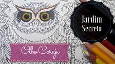Livro de colorir - Olho da Coruja - Coloring Book - Owl Eye | Luciana Qu...