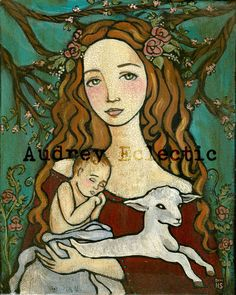 Audrey Eclectic - #paintings, #prints, and #folkart inspired by the saints and the #catholic faith