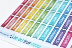 Planner Decoration || Planner stickers for Erin Condren horizontal life planner by DoodleSoupStudio