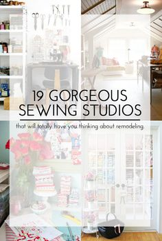 19 Gorgeous Sewing Studios || that will totally have you thinking about remodeling. Or at least picking up the fabric from your sewing table.