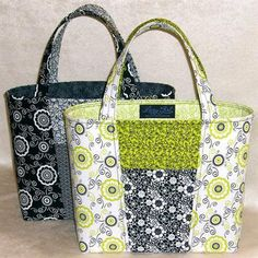 Claire Handbag Pattern by Lazy Girl Designs Sacs Tote Bags, Quilted Tote Bags, Patchwork Bags, Denim Patchwork, Lv Bags, Crazy Patchwork, Patchwork Designs, Fabric Purses, Fabric Bags
