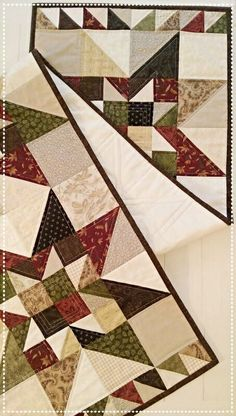 Primitive Quilt Pattern Table Runner Wall Hanging PDF Star Summer Fall Scrappy…