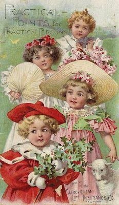 Little Birdie Blessings :  Vintage advertising with children