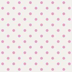 Vliesbehang wit met roze stippen   Praxis